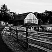 Langus Farms Black And White Art Print