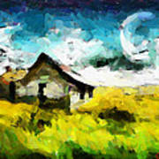 Lanscape With A House Tnm Art Print