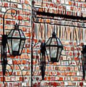 Lanterns In The Courtyard Art Print