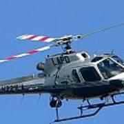 Lapd Aerial Chopper Art Print