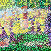Large Bubbly Sunday On La Grande Jatte Art Print