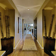 Large Hallway In Upscale Residence Art Print by Andersen Ross