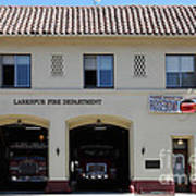 Larkspur Fire Department - Larkspur California - 5d18503 Print by Wingsdomain Art and Photography