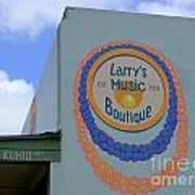 Larrys Music Boutique  Est 1952 Art Print