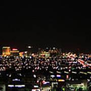 Las Vegas Nevada Nighttime Skyline Art Print