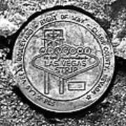 Las Vegas Strip Street Medallion Art Print