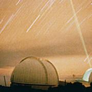 Laser Beam Fired Into The Night Sky Art Print