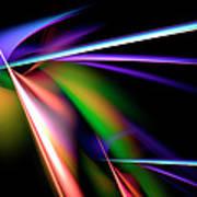 Laser Light Show Art Print