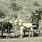 Last Deadwood Coach 1890 Art Print