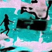Last Minute - Digital Art Neon Colors Art Print