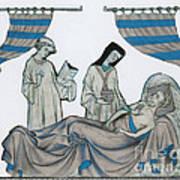 Last Rites, Middle Ages Art Print