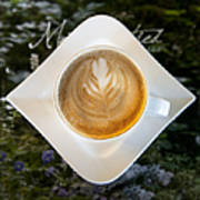 Latte With A Leaf Pattern Art Print by Jaak Nilson