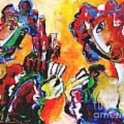 Laubar - Pokerface Art Print by Laurens  Barnard