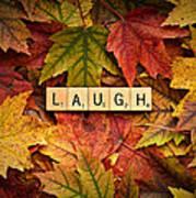 Laugh-autumn Art Print