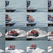 Launching The Lifeboat Art Print