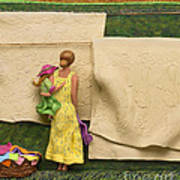 Laundry - Crop Of Original - To See Complete Artwork Click View All Art Print by Anne Klar