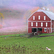 Laurel Mountains Barn Art Print