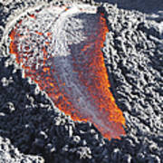 Lava Flow On The Flank Of Pacaya Art Print