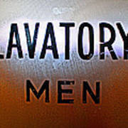 Lavatory Mens Art Print