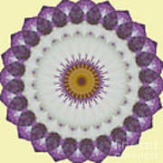 Lavender And Yellow Kaleidoscope Art Print