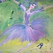 Lavender Ballerina Art Print