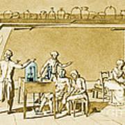 Lavoisier Experimenting Art Print
