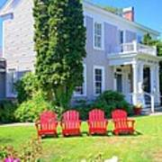 Lawn Chairs Art Print by Randall Weidner