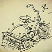 Lawnmower Tricycle Patent Art Print