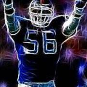 Lawrence Taylor  Art Print by Paul Ward