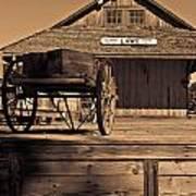 Laws Ca Historic Depot Art Print