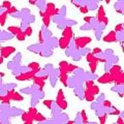 Layered Butterflies  Art Print