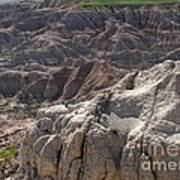 Layers Of Rock In The Badlands Art Print