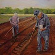 Laying Off Rows Art Print