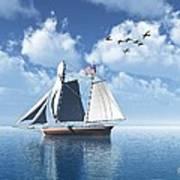Lazy Day Sail Art Print