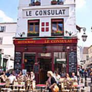 Le Consulat Cafe  Art Print