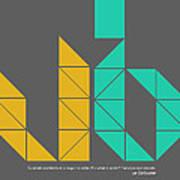 Le Corbusier Quote Poster Art Print