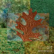 Leaf Life 01 - Green 01b2 Art Print