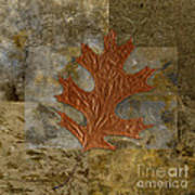Leaf Life 01 -brown 01b2 Art Print