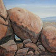Leaning Rocks Art Print