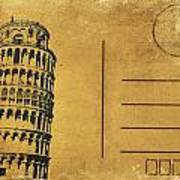 Leaning Tower Of Pisa Postcard Art Print