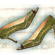 Leapin Green Lizards Pumps Art Print