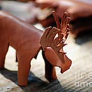 Leather Elk  Art Print