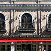 Ledson Hotel - Downtown Sonoma California - 5d19271 Art Print by Wingsdomain Art and Photography