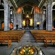 Leeds Cathedral Baptismal Font And Nave Art Print