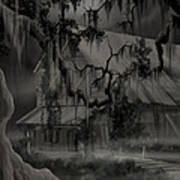 Legend Of The Old House In The Swamp Art Print