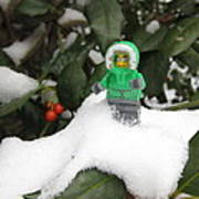 Lego Mini Eskimo In Holly  Art Print