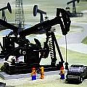 Lego Oil Pumpjacks Art Print