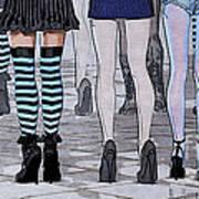 Legs Art Print by Jutta Maria Pusl