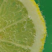 Lemon Slice Soda 1 Art Print