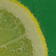Lemon Slice Soda 2 Art Print